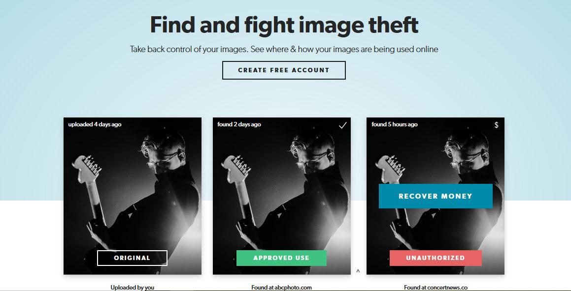 Pixsy homepage