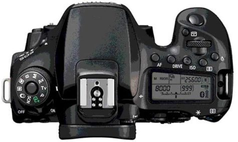 Canon 90D review top view