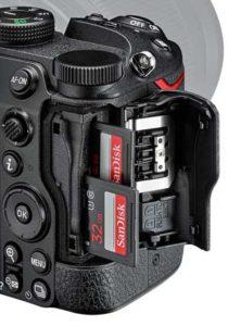 Nikon Z5 memory cards
